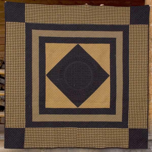 Mustard and Black Amish Center Diamond Quilt Project - Work in ... : amish diamond quilt pattern - Adamdwight.com